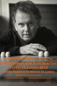 Masterclasse com Bart Quartier - Percussão@ESML
