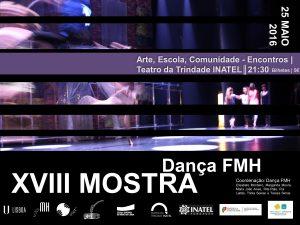 banner XVIII mostra de Dança FMH Maio 2016
