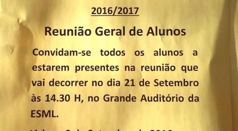 Abertura do Ano Escolar 2016/2017