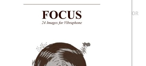 Focus: 24 Images for Vibraphone, Bart Quartier