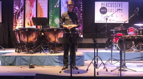 Marco Santos vence o 1º Prémio (Caixa) da Italy Percussion Competition