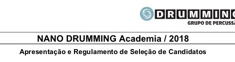 NANO DRUMMING Academia / 2018