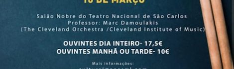Masterclasse com Marc Damoulakis